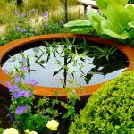 Urbis lily bowl in Gardening Scotland gold medal show garden, built by Water Gems, designed by Carolyn Grohmann in 2014