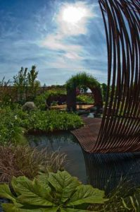 Revar Sculpture, 2010 Gold medal, Gardening Scotland, Best in Show, designed and built by Water Gems, planting by Carolyn Grohmann