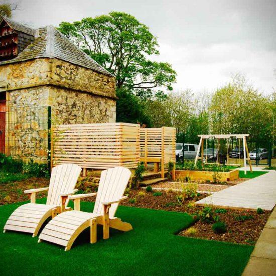 Huntercombe Hospital Garden, West Lothian, built by Water Gems, designed by Carolyn Grohmann