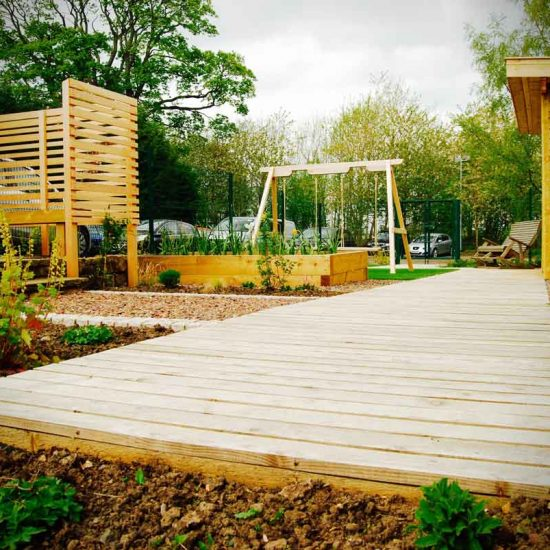Huntercombe Hospital Garden, West Lothian, built by Water Gems, designed by Carolyn Grohmann