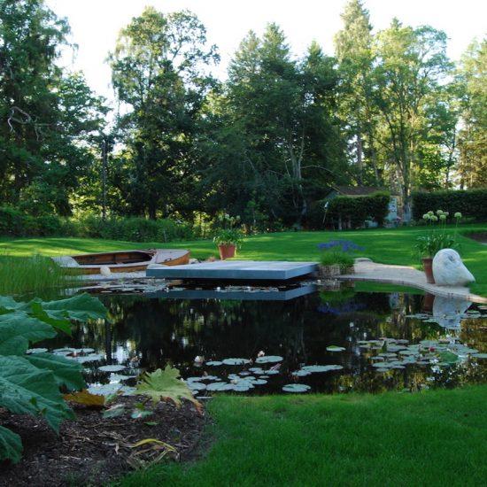 Aviemore garden, water feature remedial work by Water Gems