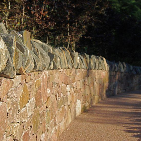Aviemore garden, drystone dyke by Water gems