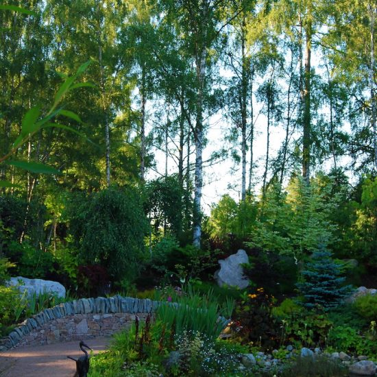 Drystone walling, Aviemore Garden, built by Water Gems