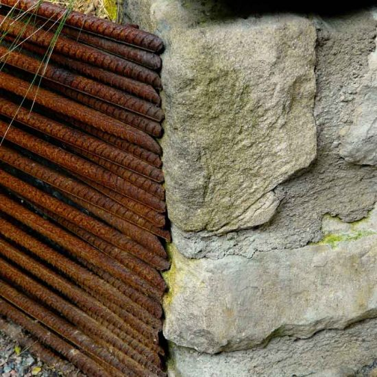 Rebar raised beds, Edinburgh Eton Terrace garden, built by Water Gems, designed by Carolyn Grohmann, BALI award winning 2014