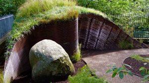 Rebar compost shed, Garden in Inverleith, Edinburgh by Water Gems