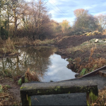 Ormiston, East Lothian pond work