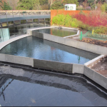 Rebuilt pools at John Hope Gateway, Edinburgh