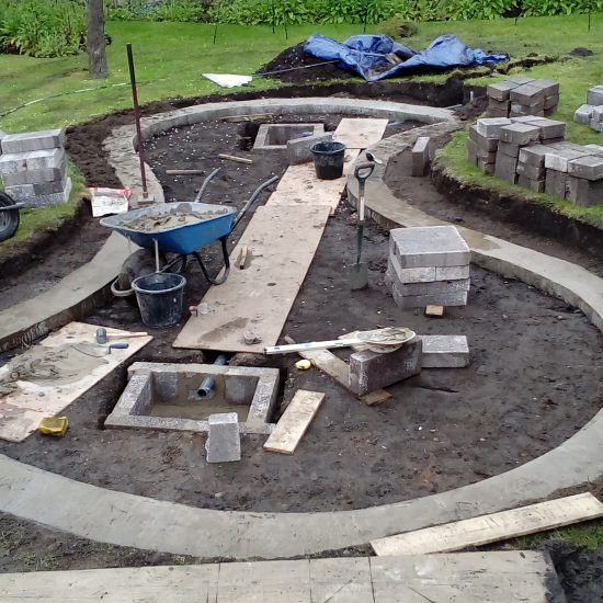 Shapely pond construction 4
