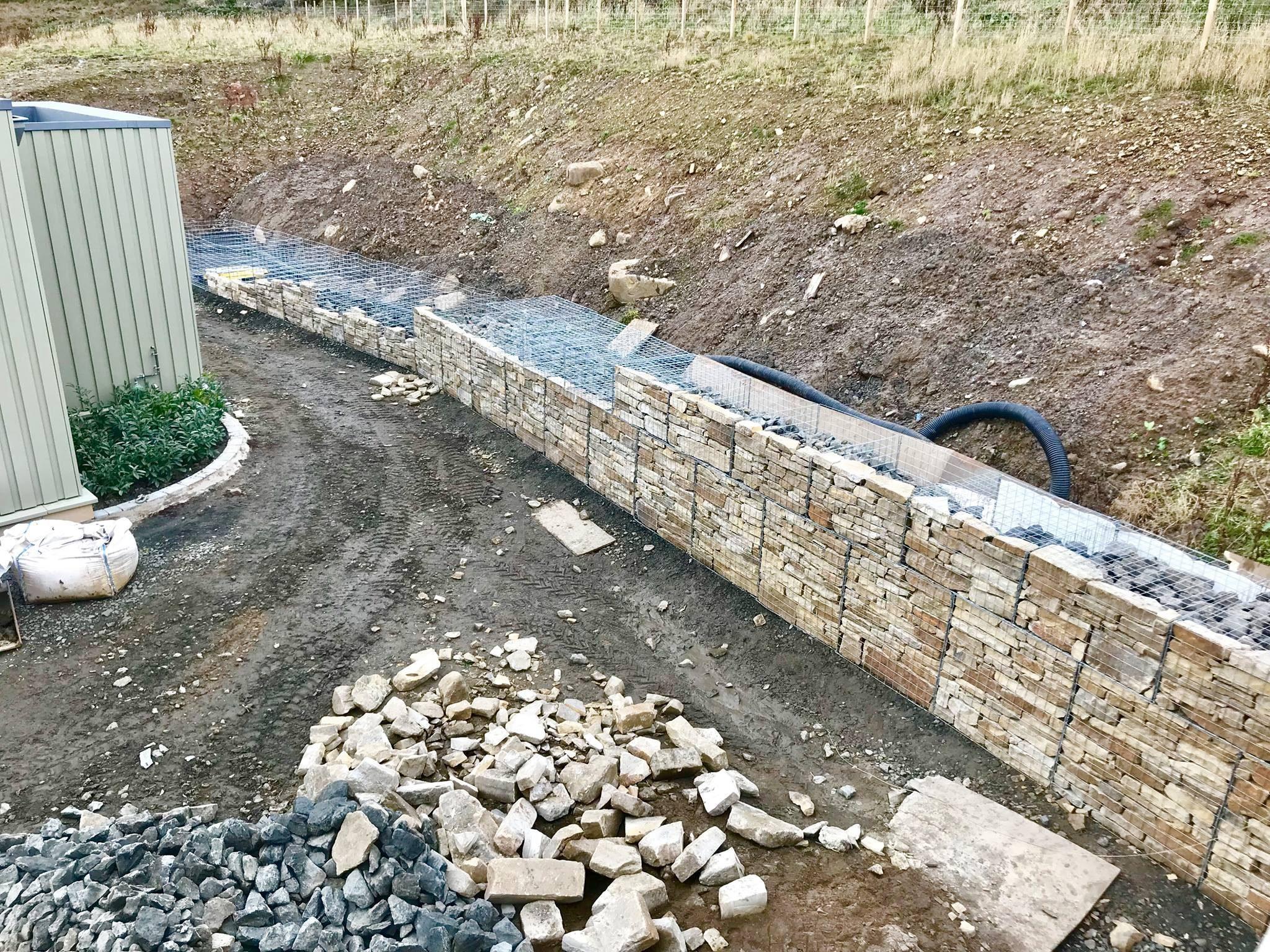 Gabion Wall Construction Water Gems