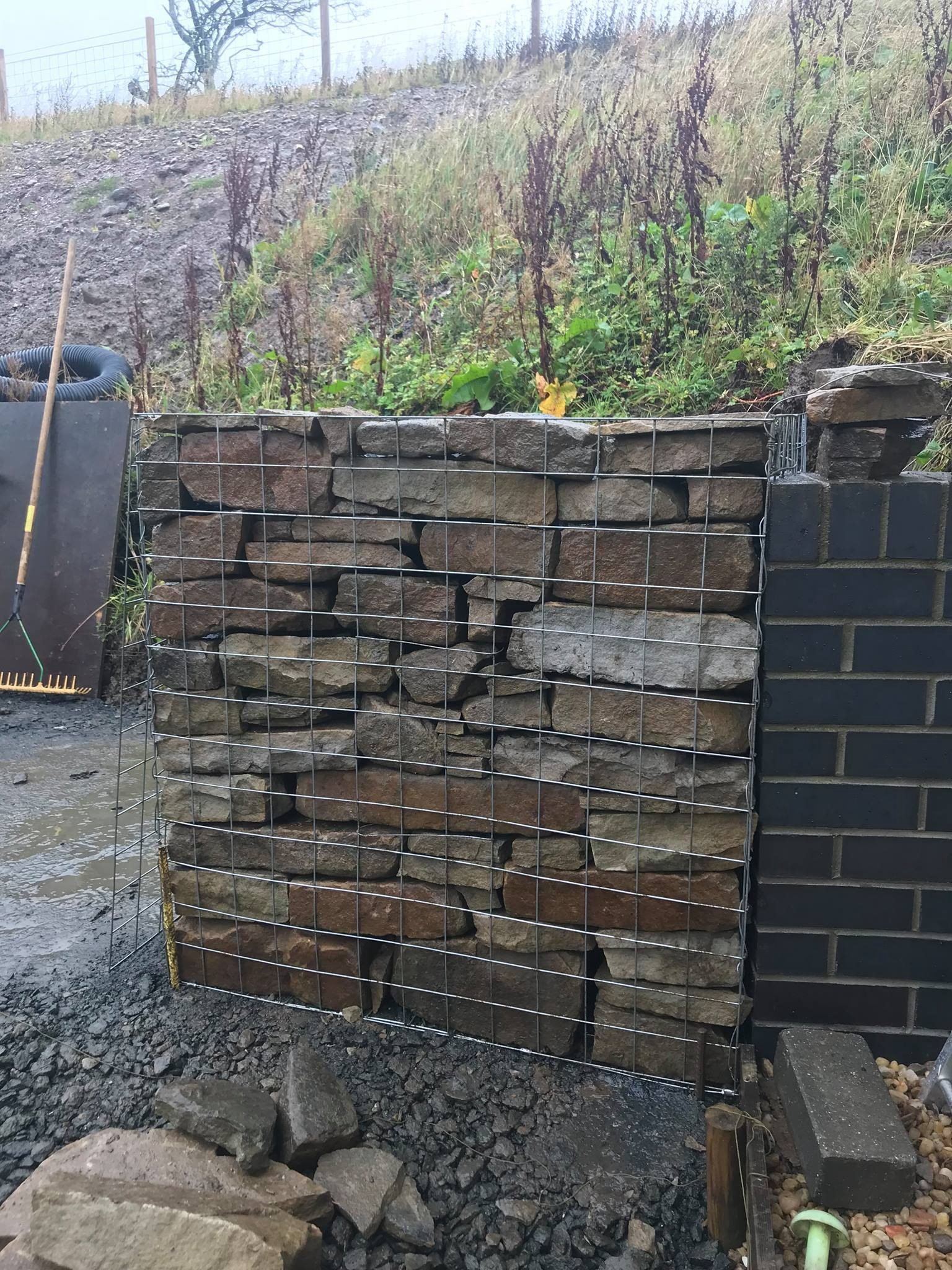Gabion Wall Construction Water Gems