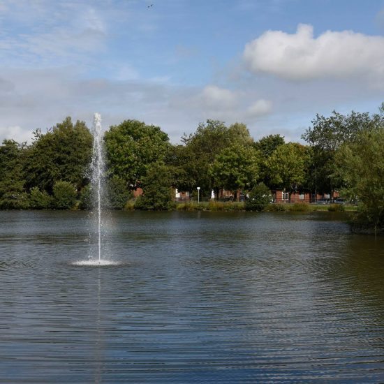 Kay Park Pond, complete with fountain